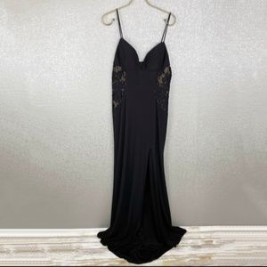 New Gianni Bini Social Lace Inset Gown Size 11